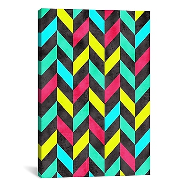 iCanvas Psychedelic Chevron by Maximilian San Graphic Art on Canvas; 40'' H x 26'' W x 0.75'' D