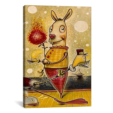 iCanvas 'Sparkle Bunny' by Daniel Peacock Painting Print on Canvas; 18'' H x 12'' W x 0.75'' D