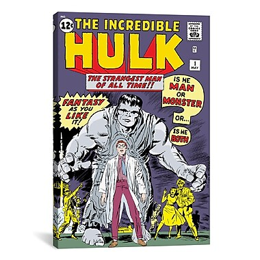 iCanvas Marvel Comics Hulk Issue Cover Graphic Art on Wrapped Canvas; 60'' H x 40'' W x 1.5'' D