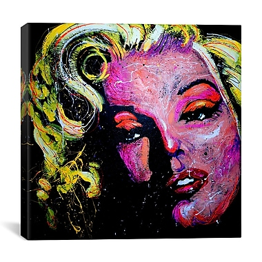 iCanvas Marilyn Joker 001 Canvas Print Wall Art; 26'' H x 26'' W x 0.75'' D