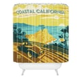 DENY Designs Anderson Design Group Woven Polyester Coastal California Shower Curtain
