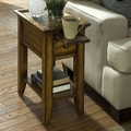 Riverside Furniture Andorra End Table; Belize Burnished Oak