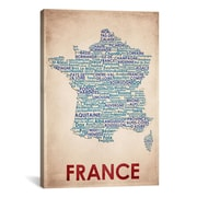 iCanvas American Flat France Graphic Art on Canvas; 18'' H x 12'' W x 0.75'' D