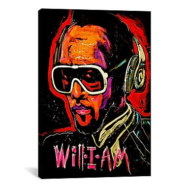 iCanvas Will I Am 001 by Rock Demarco Painting Print on Wrapped Canvas; 26'' H x 18'' W x 0.75'' D