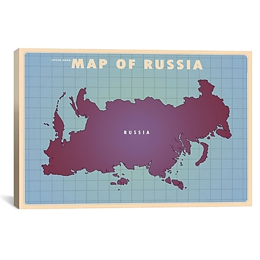 iCanvas Upside Down Russia Graphic Art on Wrapped Canvas; 12'' H x 18'' W x 0.75'' D