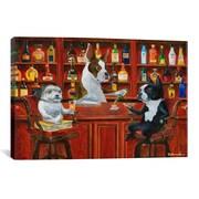iCanvas Three Friends at the Bar Canvas Print Wall Art; 12'' H x 18'' W x 0.75'' D