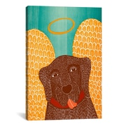 iCanvas Stephen Huneck Angel Dog Choc Canvas Print Wall Art; 18'' H x 12'' W x 0.75'' D