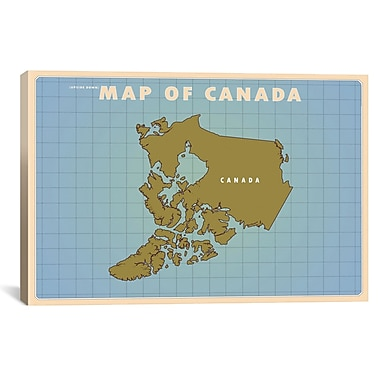 iCanvas Upside Down Canada Graphic Art on Canvas; 26'' H x 40'' W x 0.75'' D