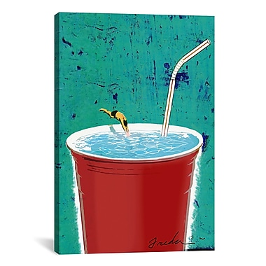 iCanvas Anthony Freda Big Drink Graphic Art on Wrapped Canvas; 41'' H x 27'' W x 1.5'' D