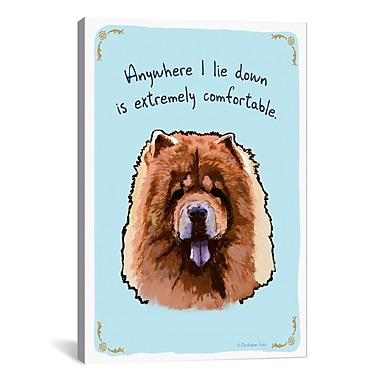 iCanvas Tiny Confessions Padded Chow Chow by Christopher Rozzi Graphic Art on Wrapped Canvas
