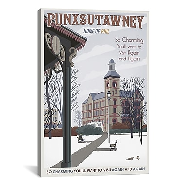 iCanvas Steve Thomas Punxsutawney Graphic Art on Wrapped Canvas; 26'' H x 18'' W x 0.75'' D