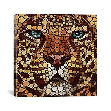 iCanvas 'Leopard' by Ben Heine Graphic Art on Wrapped Canvas; 18'' H x 18'' W x 0.75'' D