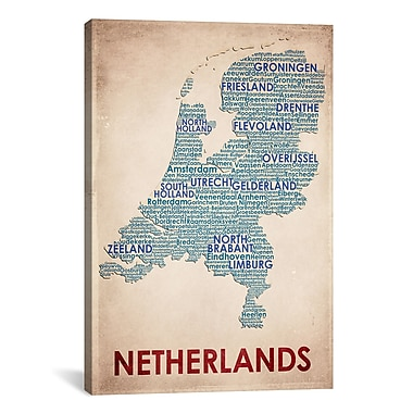 iCanvas American Flat Netherlands Graphic Art on Wrapped Canvas; 41'' H x 27'' W x 1.5'' D
