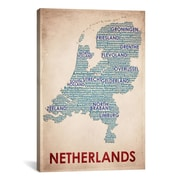 iCanvas American Flat Netherlands Graphic Art on Canvas; 18'' H x 12'' W x 0.75'' D