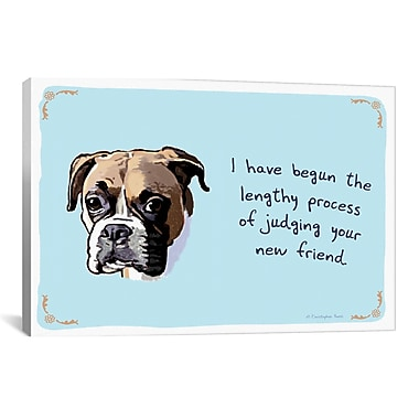 iCanvas Tiny Confessions Judgemental Boxer by Christopher Rozzi Painting Print on Wrapped Canvas