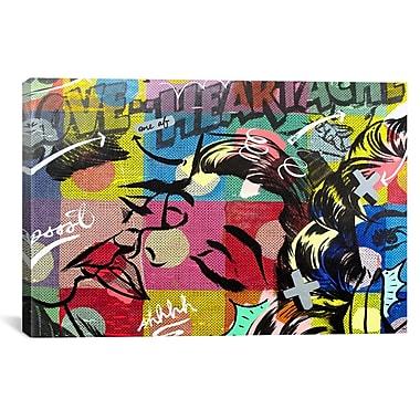 iCanvas Fearless Heartache Canvas Print Wall Art; 12'' H x 18'' W x 0.75'' D