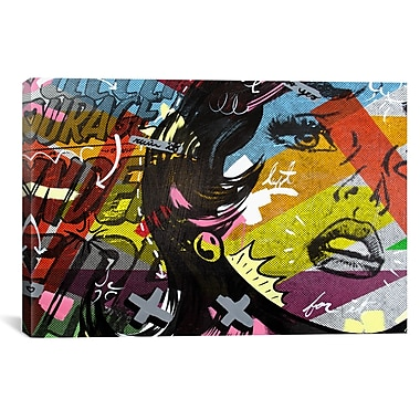 iCanvas Left of Yes by Dan Monteavaro Graphic Art on Wrapped Canvas; 26'' H x 40'' W x 0.75'' D