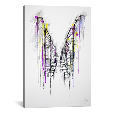 iCanvas 'This City Sleeps' by Marc Allante Graphic Art on Canvas; 40'' H x 26'' W x 0.75'' D