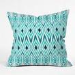 DENY Designs Amy Sia Ikat Jade Throw Pillow; Extra Large