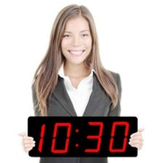 Big Time Clocks Huge 5'' Numbers Multi-Alarm LED Clock