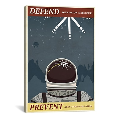 iCanvas Steve Thomas Prevent Abduction Graphic Art on Wrapped Canvas; 41'' H x 27'' W x 1.5'' D