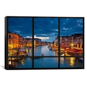 iCanvas Venice City Skyline Window View Canvas Print Wall Art; 26'' H x 40'' W x 0.75'' D