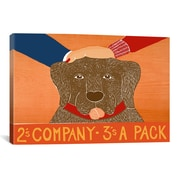 iCanvas Stephen Huneck 2S Company Choc Painting Print on Wrapped Canvas; 12'' H x 18'' W x 0.75'' D