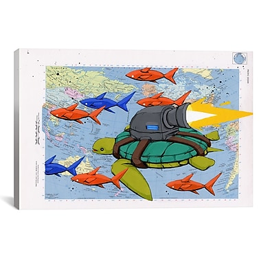 iCanvas Making Good Time by Ric Stultz Graphic Art on Wrapped Canvas; 12'' H x 18'' W x 0.75'' D