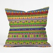 DENY Designs Bianca Green Forever Young Polyester Throw Pillow; 18'' x 18''