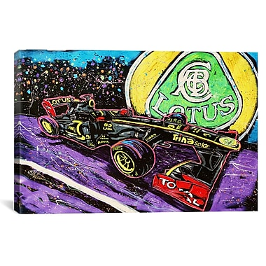 iCanvas Lotus Race Car by Rock Demarco Graphic Art on Wrapped Canvas; 40'' H x 60'' W x 1.5'' D