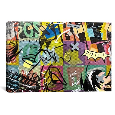 iCanvas Impossible by Dan Monteavaro Graphic Art on Wrapped Canvas; 26'' H x 40'' W x 0.75'' D