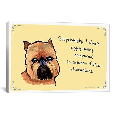 Tiny Confessions Chewbacca Brussels Griffon by Christopher Rozzi Graphic Art on Wrapped Canvas