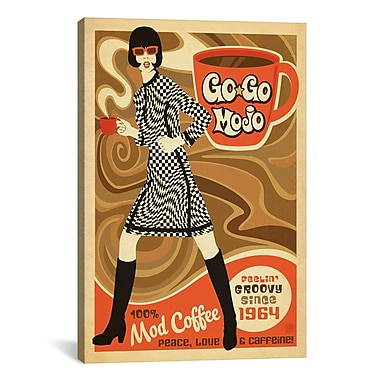 iCanvas GoGo Mojo Vintage Advertisement on Wrapped Canvas; 26'' H x 18'' W x 0.75'' D