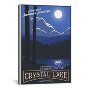 iCanvas Camp Crystal Lake by Steve Thomas Graphic Art on Canvas; 40'' H x 26'' W x 0.75'' D
