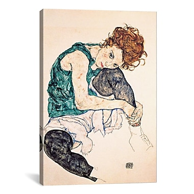 iCanvas Egon Schiele Seated Woman w/ Bent Knee II Painting Print on Wrapped Canvas