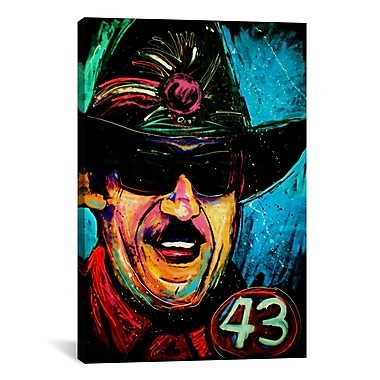 iCanvas Rock Demarco Richard Petty 001 Painting Print on Wrapped Canvas; 40'' H x 26'' W x 0.75'' D