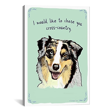 iCanvas Tiny Confessions Australian Shepard by Christopher Rozzi Painting Print on Wrapped Canvas