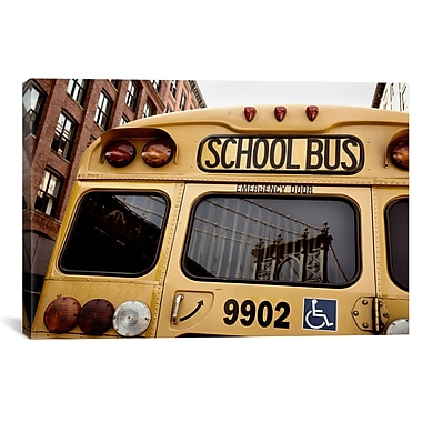 iCanvas New York CitySchool Bus by Nina Papiorek Photographic Print on Wrapped Canvas