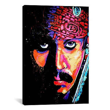 iCanvas Jack Sparrow by Rock Demarco Graphic Art on Wrapped Canvas; 40'' H x 26'' W x 0.75'' D
