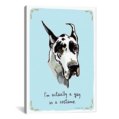 iCanvas Tiny Confessions Great Dane Costume by Christopher Rozzi Painting Print on Wrapped Canvas