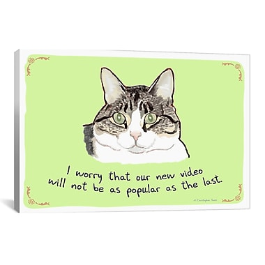 Tiny Confessions Cat Videos are Hard to Beat by Christopher Rozzi Painting Print on Wrapped Canvas