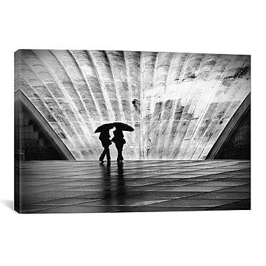 iCanvas Paris La Pluie Canvas Wall Art by Nina Papiorek; 27'' H x 41'' W x 1.5'' D