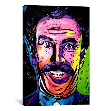 iCanvas Rock Demarco Borat 002 Painting Print on Wrapped Canvas; 18'' H x 12'' W x 0.75'' D
