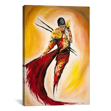 iCanvas 'Matador' by Marc Allante Painting Print on Wrapped Canvas; 18'' H x 12'' W x 0.75'' D