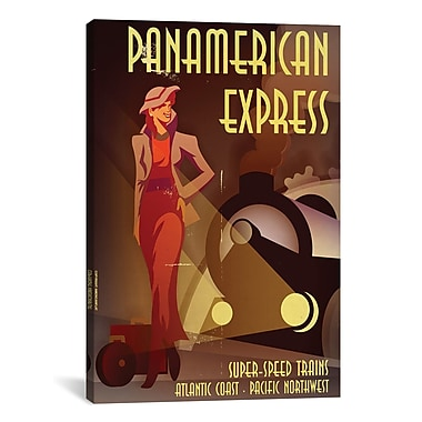iCanvas American Flat PanAmerican Express Graphic Art on Wrapped Canvas; 26'' H x 18'' W x 0.75'' D