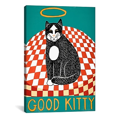 iCanvas Good Kitty by Stephen Huneck Graphic Art on Wrapped Canvas; 26'' H x 18'' W x 0.75'' D