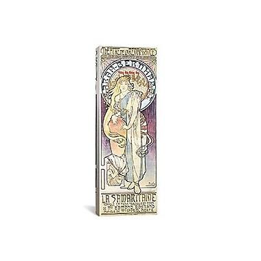 iCanvas Alphonse Mucha La Samaritaine Graphic Art on Wrapped Canvas; 12'' H x 36'' W x 0.75'' D