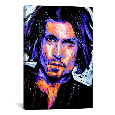 iCanvas Depp Art 001 by Rock Demarco Painting Print on Wrapped Canvas; 40'' H x 26'' W x 0.75'' D