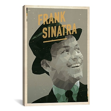 iCanvas American Flat Sinatra Graphic Art on Wrapped Canvas; 18'' H x 12'' W x 0.75'' D