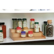 Seville Classics 3 Tier Expandable Bamboo Spice Organizer Shelf